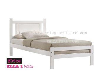 ELLA 1 WHITE SINGLE WOODEN BED