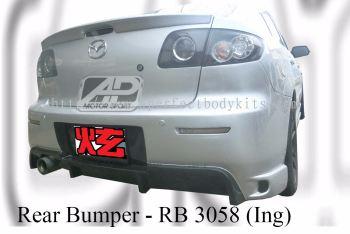 Mazda 3 Sedan 2006 Ing Rear Bumper