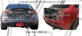 Mitsubishi Lancer EX Rear Boot (Carbon Fibre / FRP Material)