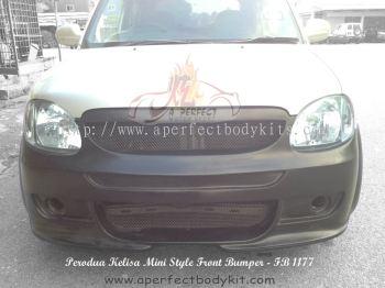 Perodua Kelisa Mini Style Front Bumper