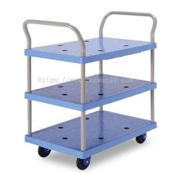 Prestar PB-105-P Triple Deck Dual-Handle Trolley