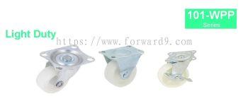 101-WPP Series Top Plate Polypropylene Castor Wheel