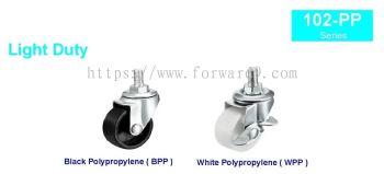 102-PP Series Thread Stem Polypropylene Castor Wheel