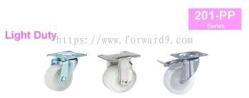 201-PP Series Top Plate Polypropylene Castor Wheel