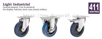 411 Series Top Plate Blue Elastic Castor Wheel
