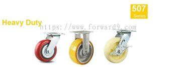 507 Series - Eazy Top Plate Polyurethane , Nylon Castor Wheel