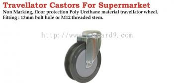 376(2DS) Series Bolt Hole Travellator Castor Wheel