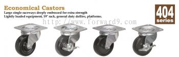 404 Series Top Plate Hard Rubber Castor Wheel