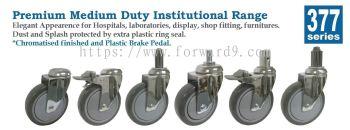 377 Series Bolt Hole Polyurethane Medical Castor Wheel