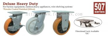507 Series Top Plate Polyurethane Castor Wheel