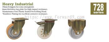 728 Series Top Plate Polyurethane / Nylon / Cast Iron Castor Wheel