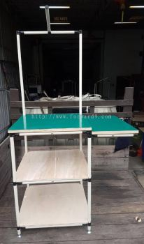 Pipe & Joint Table c/w Plywood and ESD Rubber Mat
