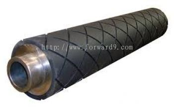 Rubber Roller Coating with Diamond Groove