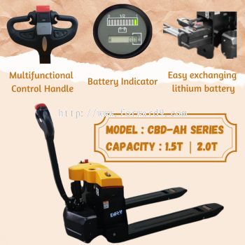 Eazy 1.5-2.0ton Heavy Duty Power Electric Pallet Truck with Lithium Battery
