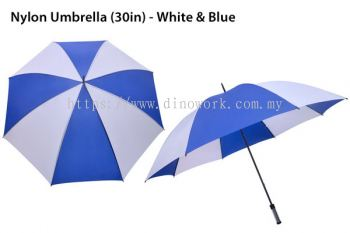 30in Nylon Umbrella White&blue