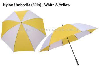 30in Nylon Umbrella White&Yellow