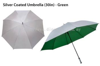 30in Silver Top Umbrella Green