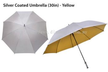 30in Silver Top Umbrella Yellow