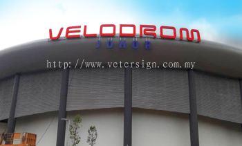 Stadium signage-3D lettering aluminium box up and LED light