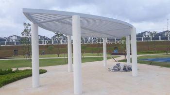 Garden pavilion-mild steel welding with 2K painting