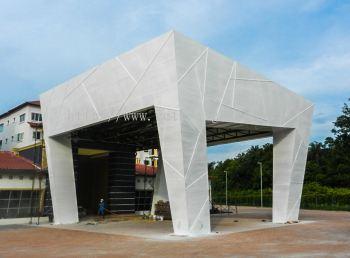 Building-mild steel hollow and foamboard