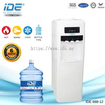 Yamada 688-12 Bottle Type Water Dispenser (Hot&Warm&Cool)