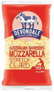 Devondale Australia Shredded Mozzarella 2kg