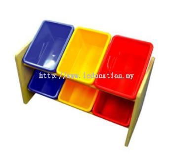 5506B MDF Shelf (6 Bins)