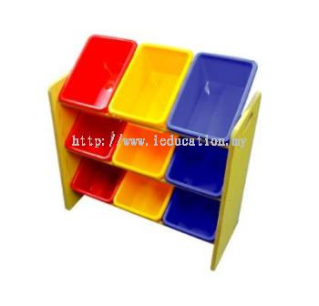 5509 9 Bins MDF Shelf Storage
