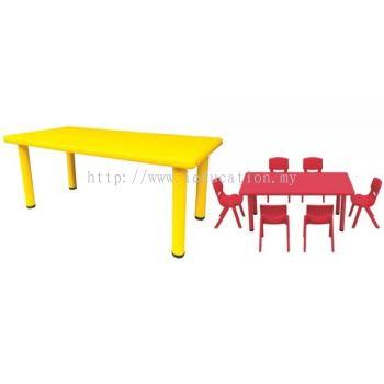 QIFP008 Plastic Retangular Table
