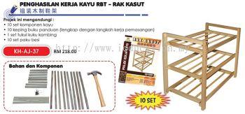 KH-AJ-37 Penghasilan Kerja Kayu RBT - Rak Kasut (10 set)