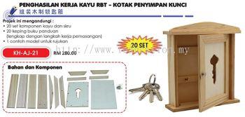 KH-AJ-21 Penghasilan Kerja Kaju RBT - Kotak Penyimpan Kunci (20 set)