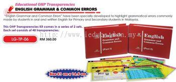 LG-TP-06 Educational OHP Transparencies English Grammar & Common Errors