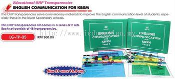 LG-TP-05 Educational OHP Transparencies English Communication For KBSM