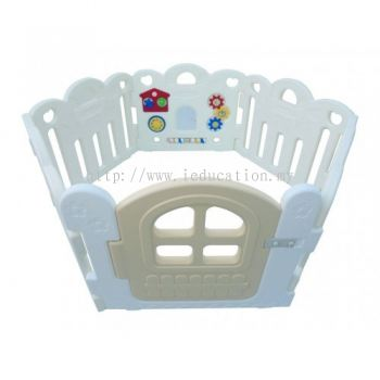 HNP-737W Baby Play Yard 6 Panels Petit With Activity (White