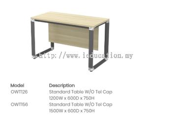 OWT126 Standard Table W/O Tel Cap