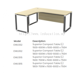 OWL552 Superior Compact Table (L)