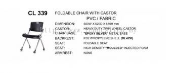 CL339 Foldable Chair With Castor