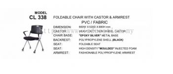 CL338 Foldable Chair With Castor