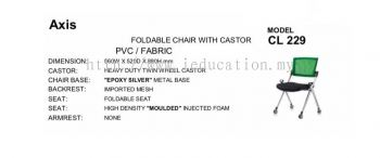 CL229 Foldable Chair With Castor