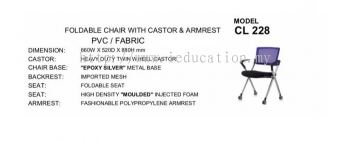 CL228  Foldable Chair With Castor