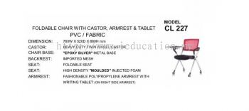 CL227  Foldable Chair With Castor