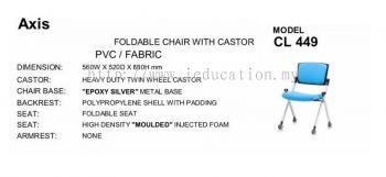 CL449 Foldable Chair With Castor