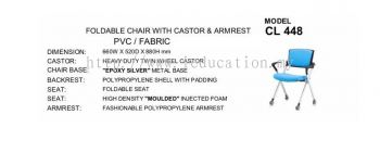 CL448  Foldable Chair With Castor