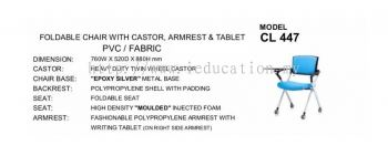 CL447 Foldable Chair With Castor