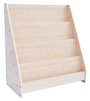 QW008N-C  Single Sided Library Shelf (Wood)