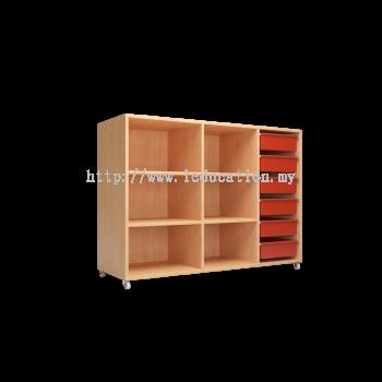 QWA005 Manipulatives Storage Shelf with Trays