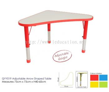 QYY019 Adjustable Arrow Shaped Table