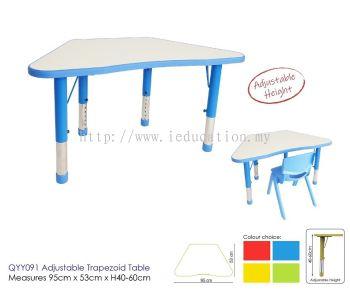 QYY091 Adjutable Trapizod Table