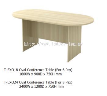 EXO18 Oval Conference Table 1800W x 900D x 750H mm